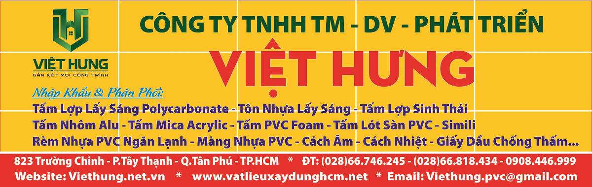 Tấm Lợp Lấy Sáng SUNLITE Thái Lan | Tấm Polycarbonate Rỗng Ruột